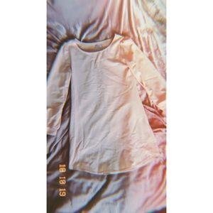 Tobi Peach Long Sleeve Dress Small
